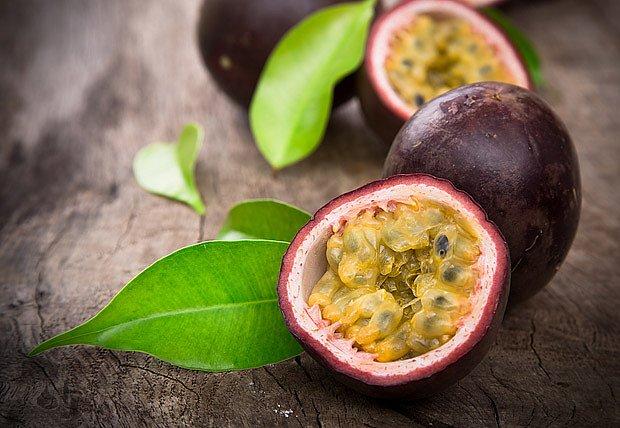 Chutná dužina plodů mučenky je plná semínek