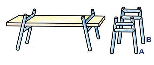 přenosný stůl