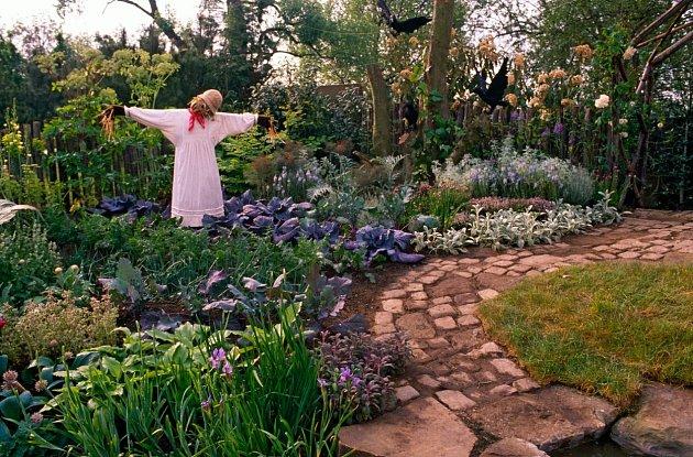 Vztyčte pro vyplašení strakapoudů ve vaší zahradě klasického strašáka.