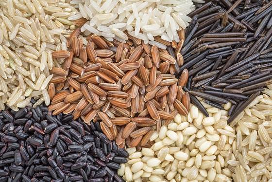 Rýže má nejen různé barvy, ale také tvary.