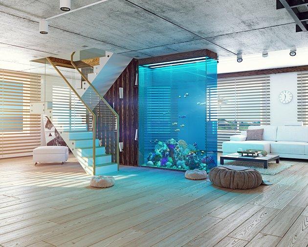 Akvárium může být výjimečným doplňkem interiéru