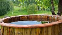 V případě venkovní sauny potřebujeme vyřešit prostor na ochlazování.