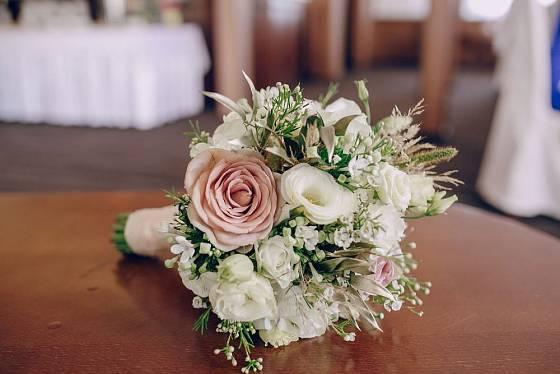 replika historické svatební kytice