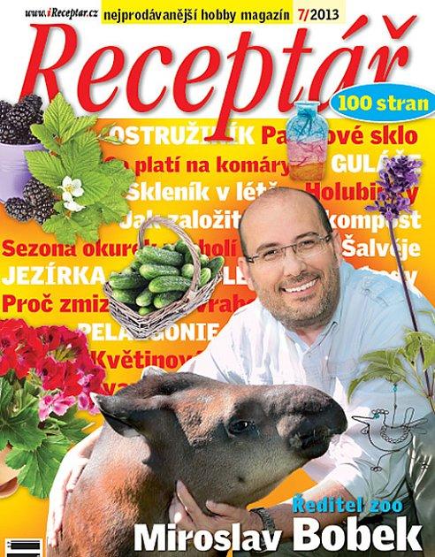 červencové číslo časopisu Receptář