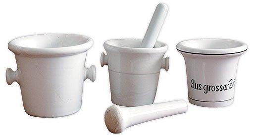 porcelánové hmoždíře