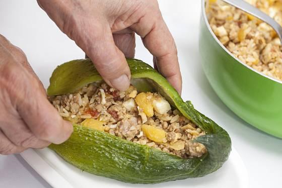 Duté plody ačokči můžete plnit podobně jako papriky