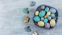 Vajíčka z betonu lze také barvit.
