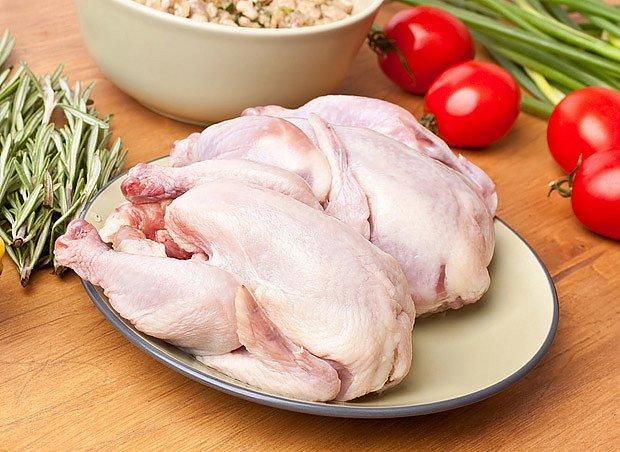 Kuře pečené bez nádivky