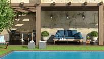 Odpočinková zóna u bazénu