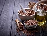 Lněné semínko obsahuje vzácné omega 3 mastné kyseliny