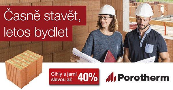 Porotherm: cihly s jarní slevou až 40 %.