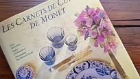 kniha věnovaná kuchyni u Monetů v Giverny