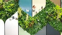 Zelené stěny vybízejí k výtvarnému experimentování