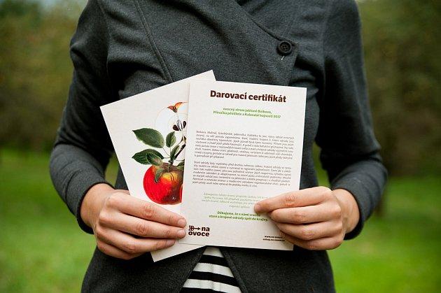 darovací certifikát Na ovoce