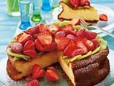 Jahodový koláč s kiwi