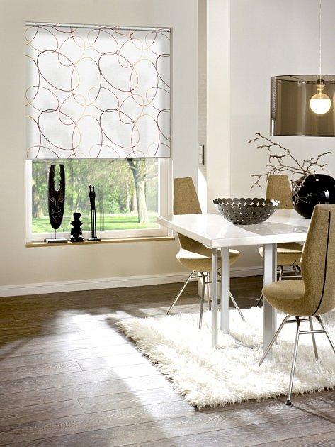 Vhodně zvolená roleta je atraktivní součástí interiéru.