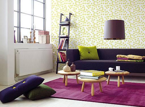 tapeta může dodat pokoji originální vzhled