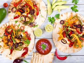 Fajitas patří mezi lehčí mexická jídla.