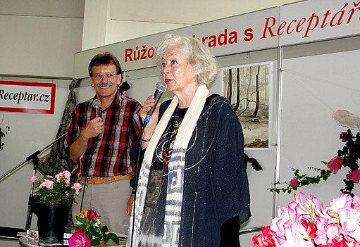 Vzácný host výstavy - Květa Fialová