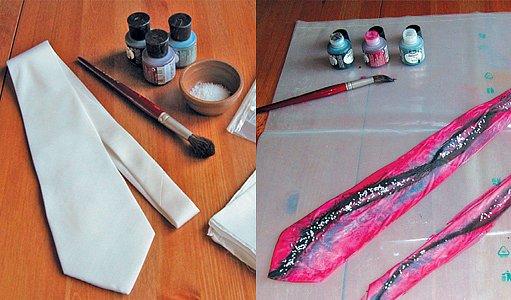 malování kravaty