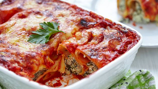 Zapékané cannelloni budou chutnat i dětem.