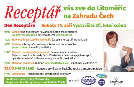 Program Dne Receptáře na výstavě Zahrada Čech v Litoměřicích