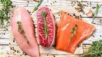 Dietní strava obsahuje často rybí a kuřecí maso.