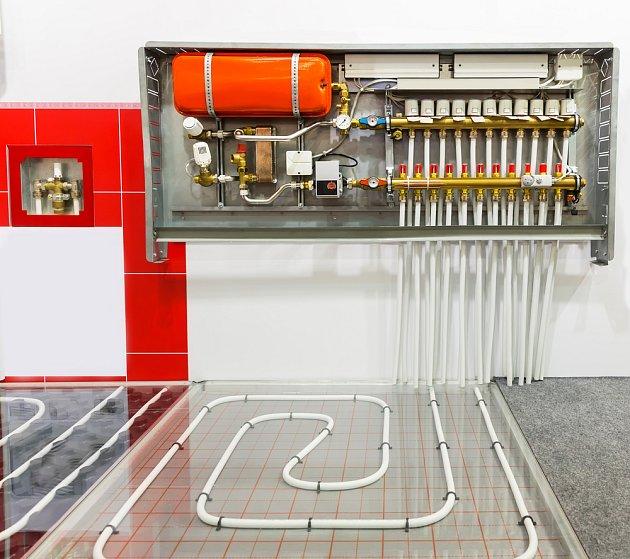 Způsob napojení na podlahové vytápění.