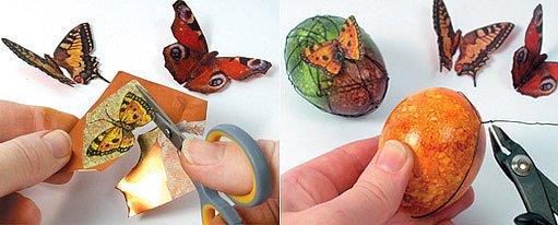 drátkování s papírovými motýly