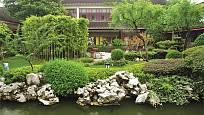 Bambusy v atriové zahradě, Čína