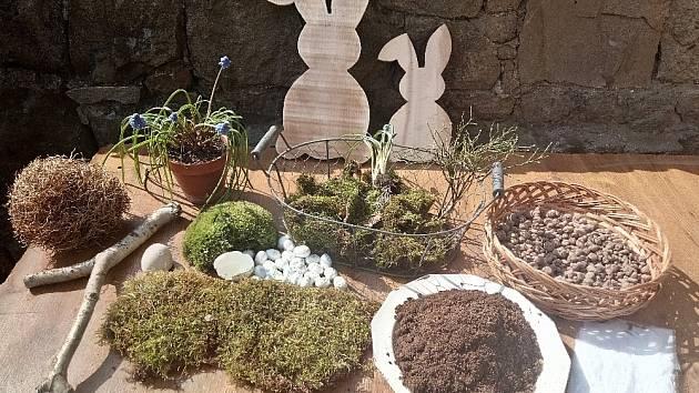 Co budeme na výrobu velikonoční dekorace potřebovat.