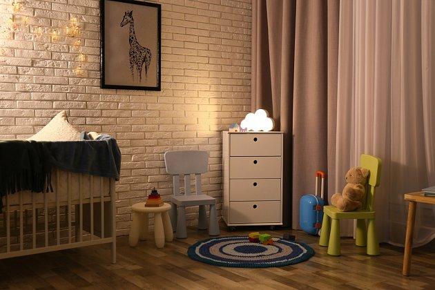 Zamyslet bychom se měli i nad tlumeným osvětlením dětského pokoje.