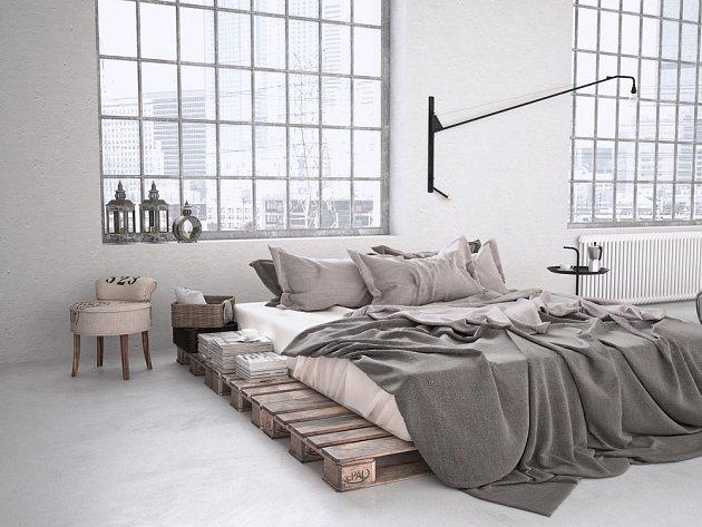 Industriální styl má stále připomínat tovární haly.