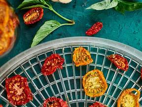 Sušená rajčata za pomoci sušičky
