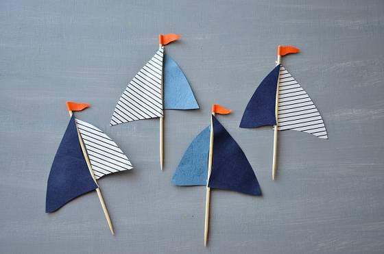 Příprava plachty pro muffinová plavidla