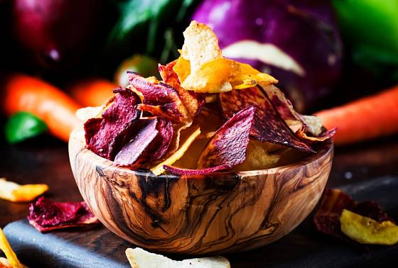 Zeleninové chipsy jsou zajímavé na pohled i na chuť