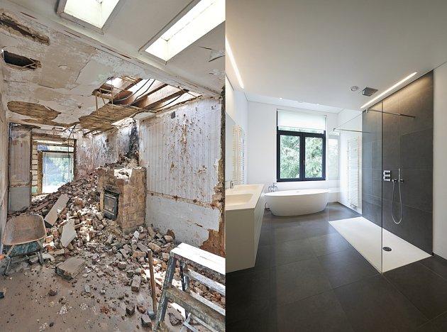 Rekonstrukce koupelny. Ty levné začínají na 70 000 korunách. Tato bude dražší...