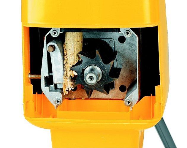 STIGA Pohled do ústrojí elektrického štěpkovače