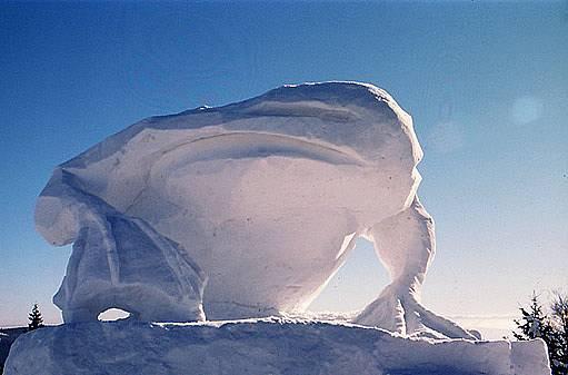 sochy z ledu a sněhu