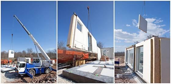Jednotlivé stavební dílce jsou výchozím materiálem také pro stavbu domu svépomocí.