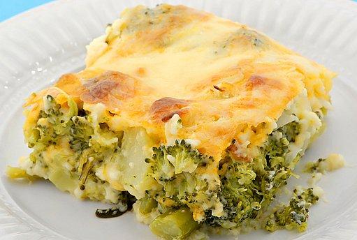 zapečená brokolice se sýrem
