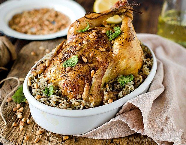 Kuře pečené s nádivkou