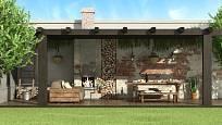 Využít lze i prostor u zdi sousedního domu.