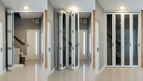 Kvalitní skládací, shrnovací dveře