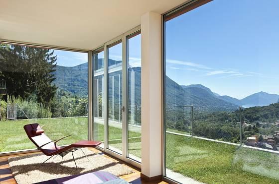 Posuvné dveře umožní skvělý výhled.