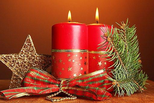 svíčky k vánocům patří