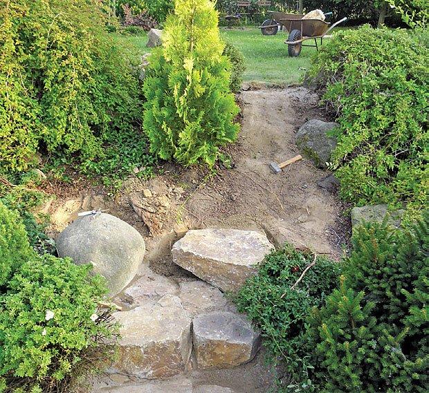 usazování kamenů
