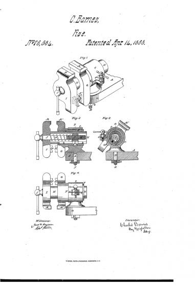 patent z roku 1868