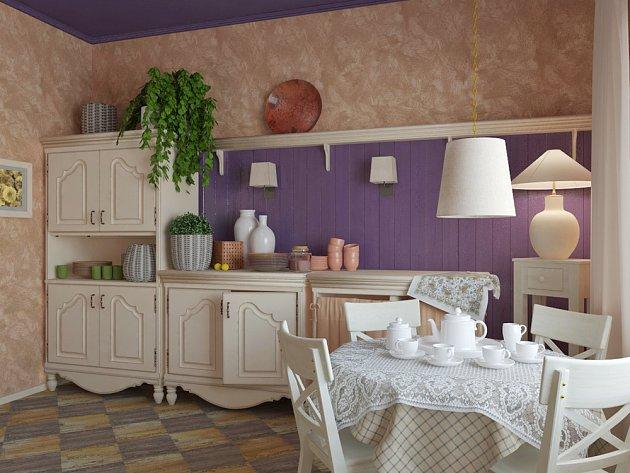 Provence styl připomíná pokojíček pro panenky.