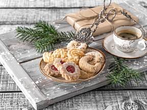 Vánoční čajové pečivo